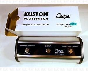 Kustom 36 72 Coupe 3-Button Lead Boost Effect Footswitch New In Box KAC-FS301