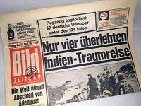 Bildzeitung vom 21.04.1967 Konrad Adenauer zum 50. 51. 52. Geburtstag