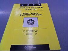 1994 Colt Vista Summit Wagon Electrical Volume 2 Dealer Service Manual FREE Ship