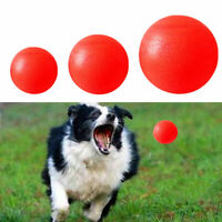 Indestructible Solid Rubber Ball Pet Dog Training Chew Fetch Bite Play Toys Q2L1