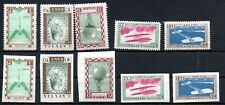 LATVIA , 1932 , meet with an accident AVIATORS , TWO SCARCE SETS , MH