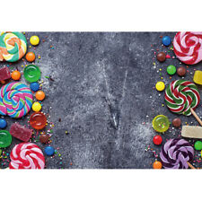 8x6ft Gray Backdrop Colors Candy Background Chidren Birthday Photography Prop