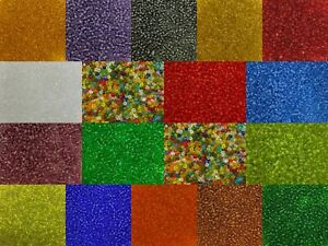 50g glass seed beads - Transparent, size 8/0 (approx 3mm) - choice of colours