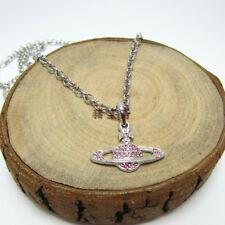 new Stylish golden pink full diamond necklace
