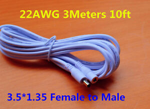 10ft DC 5V Extension Power Cable Cord 3M 3.5*1.35 For Foscam Sricam IP Camera