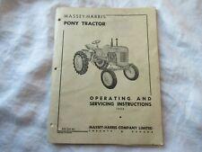 1952 Massey Harris Pony tractor operator's service instruction manual