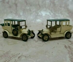 Set of 2 1965 'Models of Yesteryear' 1910 BENZ LIMOUSINE Y3-2 issue1 and 1A