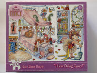 "Fancy Nancy 100 Piece Glitter Puzzle ""I Love Being Fancy"" Briarpatch NEW"