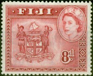 Fiji 1958 8d Carmine-Lake SG288a Very Fine MNH