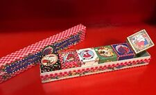 Mary Engelbreit Christmas Ornaments Box Set of 6 Blocks/Cubes Santa