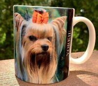 Porcelain Coffee Puppy YORKSHIRE TERRIER Doggie Yorke Coffee Ceramic Mug/Cup