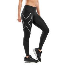 2XU женский запуск средней высоты тире колготки низ брюки Брюки черные спортивные для бега