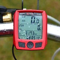 2016 Cycling Cycle Computer Odometer Speedometer Bike Bicycle Waterproof Red