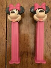 PEZ Dispensers - 2 Minnie Mouse -Vintage - Made In Hungary - Disney