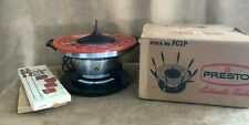 Presto Fondue pot vintage in box with forks orange electric working FC1P set