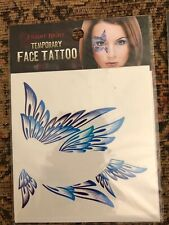 [Pack of 4] Fright Night Temporary Face Tattoo - Butterfly Design