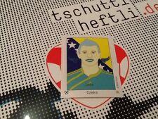 #282 grandi DZEKO Bosnia tschuttiheftli EURO 2012 Adesivo tschutti Manchester City