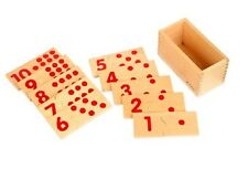 Montessori 3D Baby Toddler Wooden Toy Math Counting Dots Numbers Numeric Puzzle