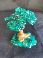"3 1/2"" Tree Green Quartz Crystal Natural Tree Of Life"