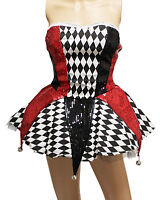 Circus Clown Queen Sexy Women Costume for Cosplay Party Halloween