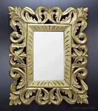 Nostalgie Landhaus Wandspiegel Spiegel Holz Gold Spiegelrahmen Vintage Look Stil