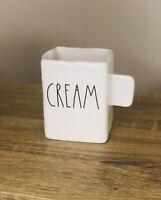 Rae Dunn Rectangular Cream Creamer White Ceramic New