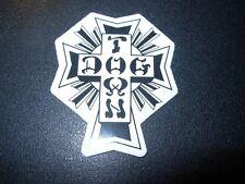 "DOGTOWN dog town Skate Sticker Blak White Cross 2X1.5"" skateboards helmets decal"