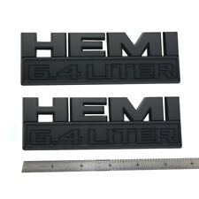 HEMI 6.4L Emblem Badge Fit Ram2500 3500 Challenger  White//Black//Red
