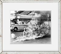 Photo: Buddhist Monk, Thich Quang Duc, Burning to Death, Protest Size: 8x10 (App