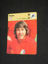 SPORTSCASTER FICHE CHAMPION RUGBY J.P.R WILLIAMS PAYS DE GALLES WALES THE LIONS