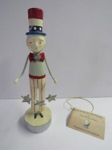 Bethany Lowe Patriotic Uncle Sam With Garland ML8899