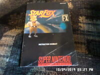Star Fox Starfox (Super Nintendo) SNES Instruction Manual Only.. NO GAME