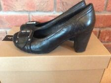 5TH AVENUE. BLACK. MARY JANE. COURT SHOES. LEATHER. SIZE 4 EUR 37