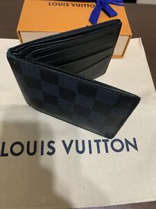 Louis Vuitton mens wallet slender Damier Graphite Pre-owned Free Shipping