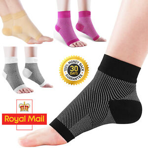 2X Compression Plantar Fasciitis Socks Foot Arch Support Ankle Relief Sleeves UK
