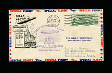 Zeppelin Sieger 242B 1933 Chicago World Fair Flight USA Post Great Cachet