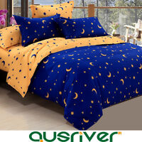4pc Star Blue Sky Kids Single/Double/Queen/S King Size Bed Quilt/Doona Cover Set