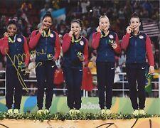 SIMONE BILES SIGNED 8X10 PHOTO 3 W/COA 2016 RIO OLYMPICS GOLD GYMNASTICS PROOF