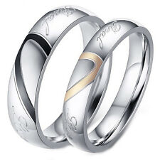 e5818230ad Couple's Matching Heart Ring, REAL Love His or Hers Wedding Band Promise  Ring