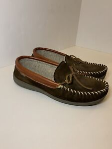 Cabela's Mens House Shearling Slippers Moccasins Loafers Size Sz 11 Excellent!