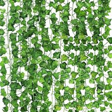 12 PCS Artificial Ivy Leaf Plants Fake Hanging Garland Plants Vine Home Decor