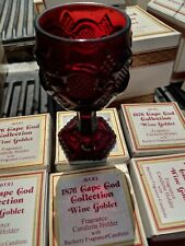 Ruby Avon Glass Cape Cod Collection small Red Wine Goblets Set 7 Gothic wedding