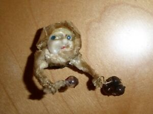 Curious Antique Doll's Head/Monkey Head Possibly Chinese?? With arms & Balls