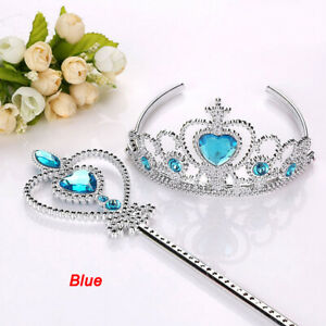 Kids Girl Fairytale Princess Crown Magic Fairy Wand Cosplay Princess Accessories