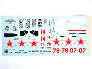 Esci 9070-71-88 Vintage Stickers TU-22M/TU-26 Backfire B 1:72 Modélisme