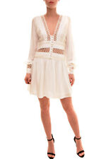 Free People Women's Authentic Ruffle Mini Dress Ivory Size 0 RRP £91 BCF84