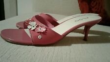 ALDO pink flower mules Size 39 / 6 NEW
