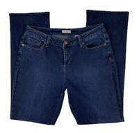 COLDWATER CREEK Brand Jeans Women 10 Bootcut Denim Pants Mid Rise Dark Wash Blue
