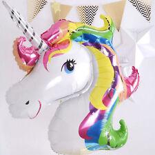 Unicorn Large Rainbow Foil Helium Balloon Children Birthday Party Decoration New