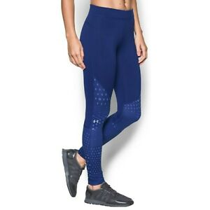 Under Armour Blue Coldgear Printed Graphic Dot Leggings Size Small